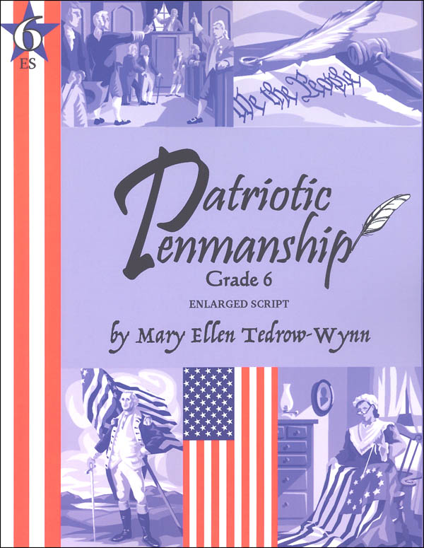 Patriotic Penmanship Grade 6 Enlarged Script