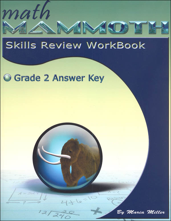 Math Mammoth Grade 2 Color Skills Review Workbook Answer Key