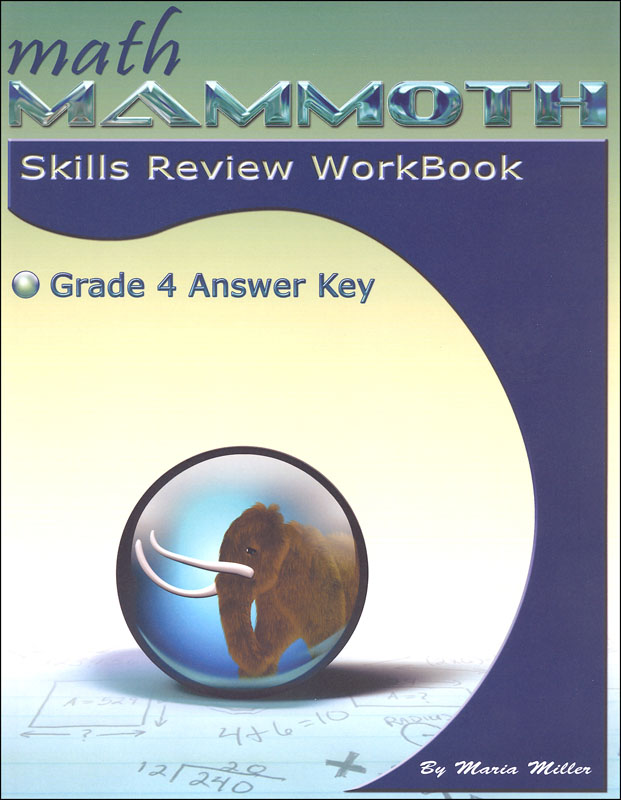 Math Mammoth Grade 4 Color Skills Review Workbook Answer Key