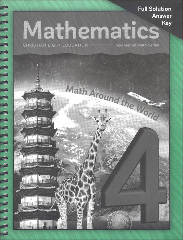 Mathematics Grade 4 Solution Key