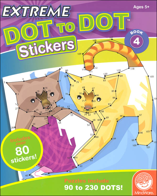 Extreme Dot to Dot Stickers - Book 4