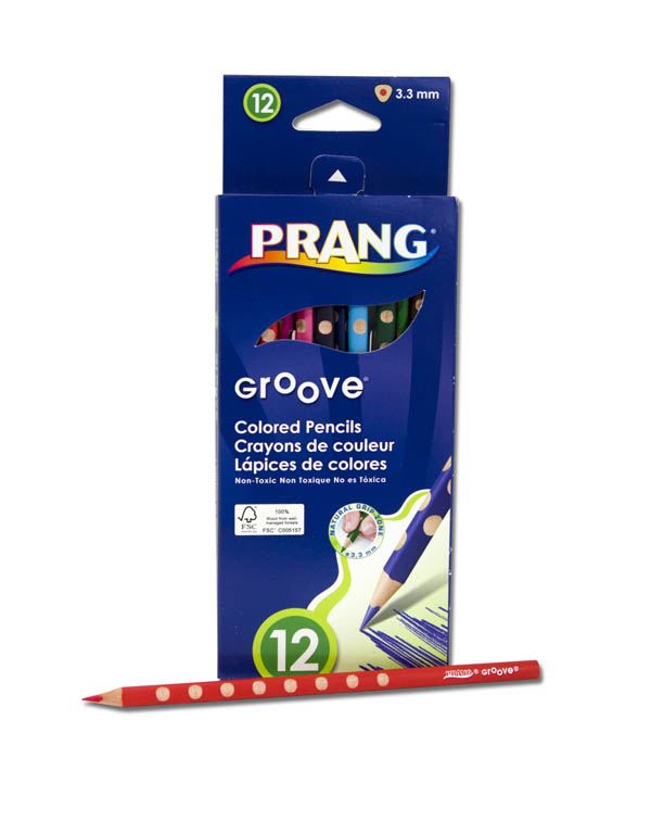 Prang Groove Slim Colored Pencils 12 count