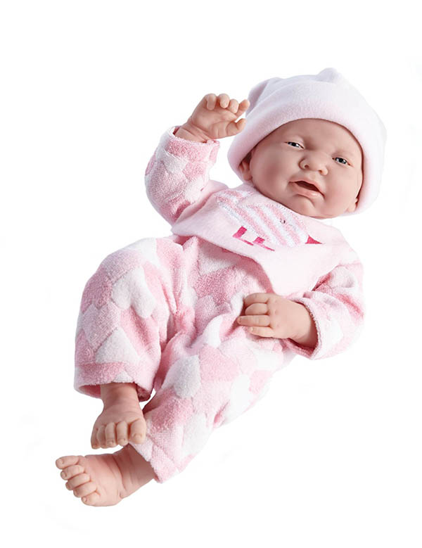 "La Newborn Realistic 17"" Vinyl Doll in Pink Bird Theme Outfit - Girl"
