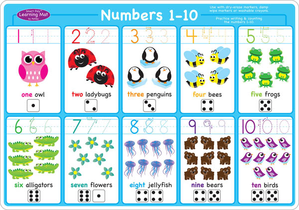 Numbers 1-10 Smart Poly Learning Mat