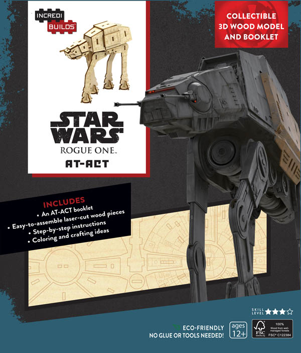 Star Wars Rogue One: AT-ACT 3D Wood Model and Book