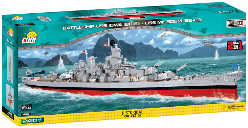 Battleship USS Iowa (BB-61) / USS Missouri (BB-63) 2 in 1 (Historical Collection World War ll)