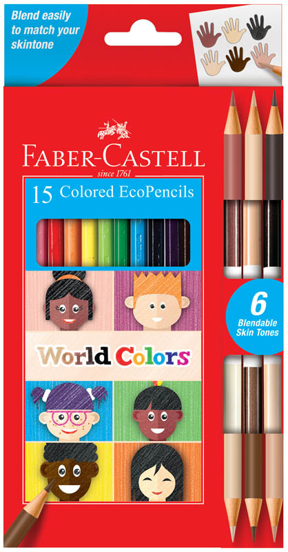 World Colors Eco Pencils - set of 15