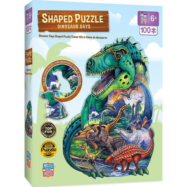 Dinosaur Days Shaped Puzzle (100 pieces)