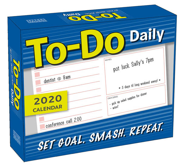 To-Do Daily:Set Goal.Smash.Repeat 2020 Clndr