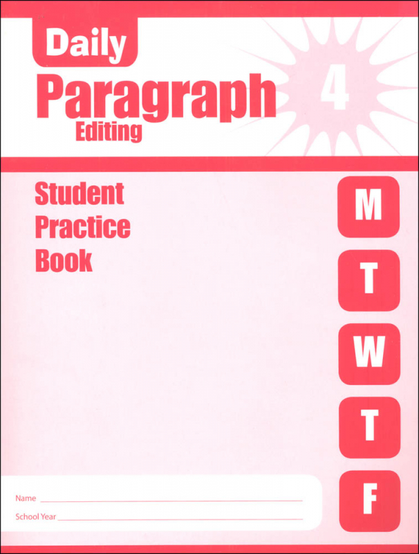 Daily Paragraph Editing Grade 4 - Individual Student Workbook