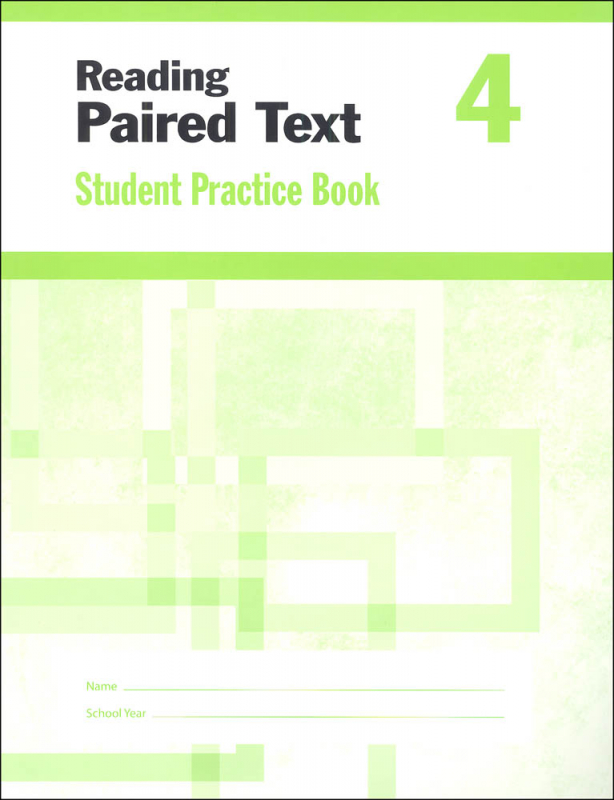 Reading Paired Text Grade 4 - Individual Student Workbook