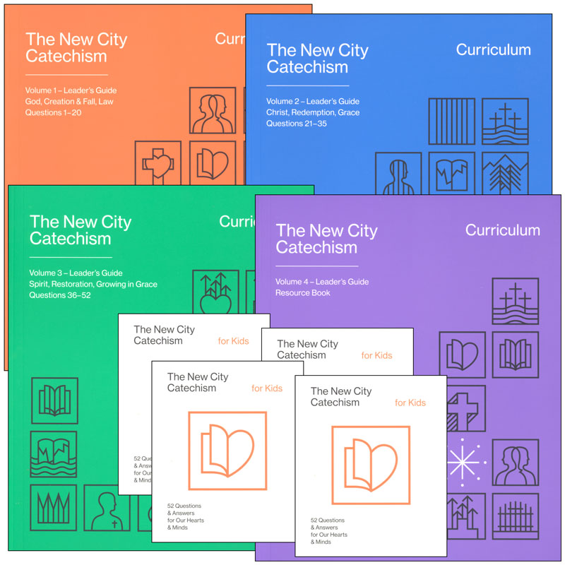 New City Catechism Curriculum (includes 3 lesson vols, resource book, 4 copies New City Catechism for Kids)