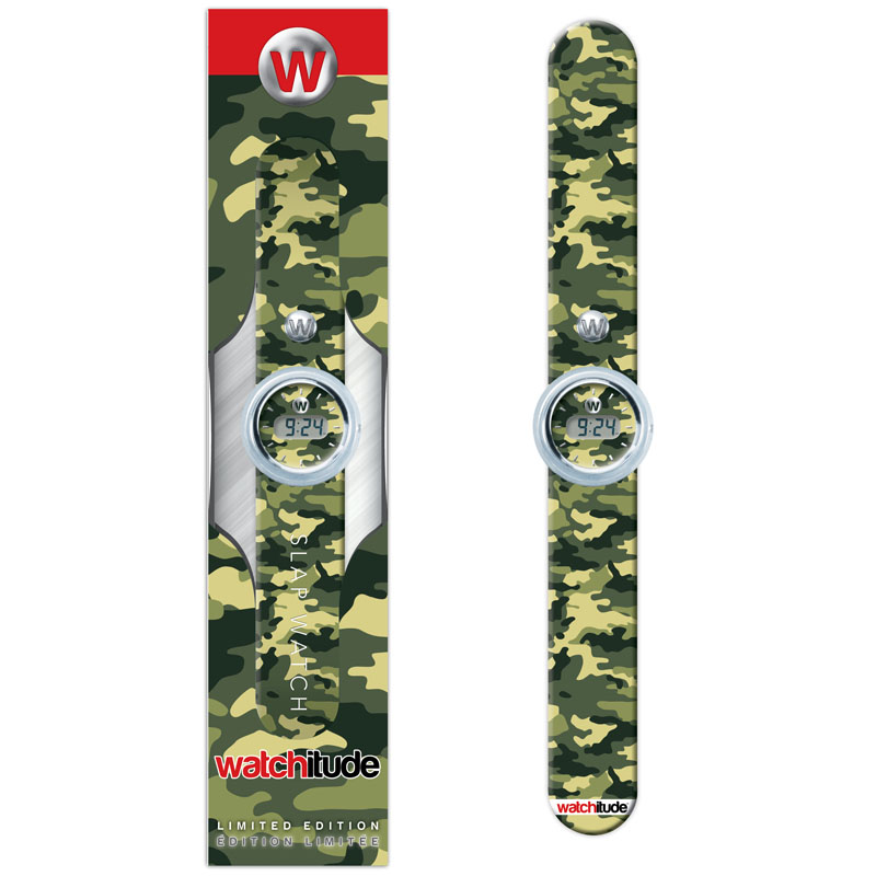 Digital Slap Watch - Army Camo