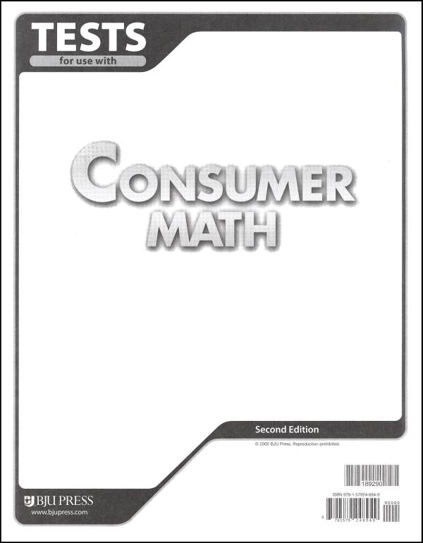 Consumer Math Tests 2ED