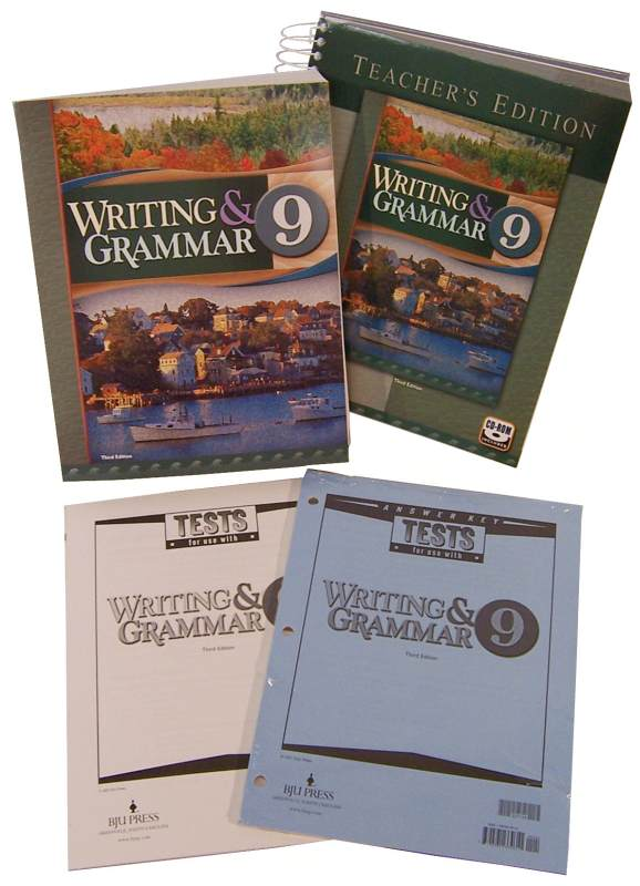 Writing/Grammar 9 Home School Kit 3ED
