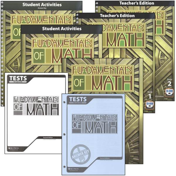Fundamentals of Math Home School Kit 2nd Edition