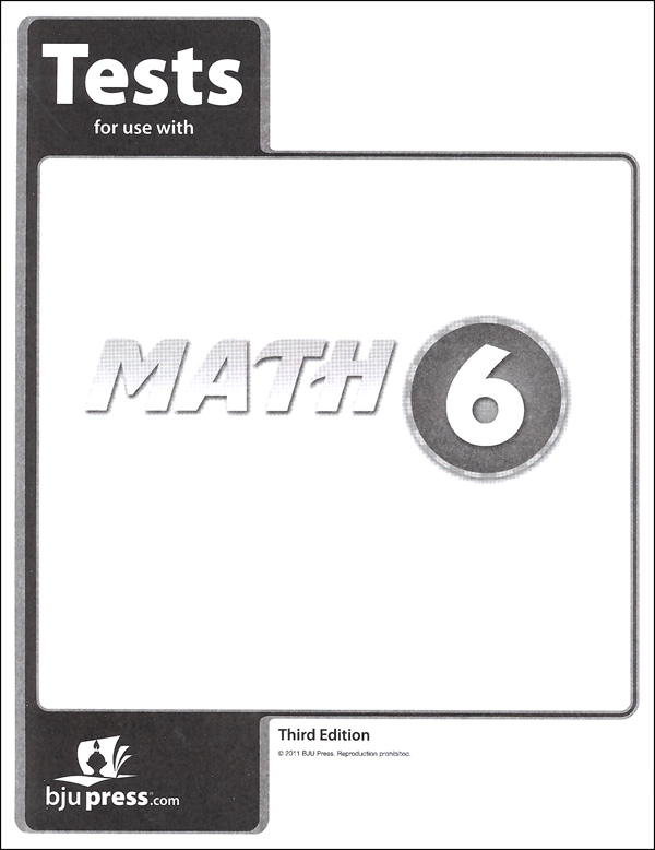 Math 6 Tests 3rd Edition