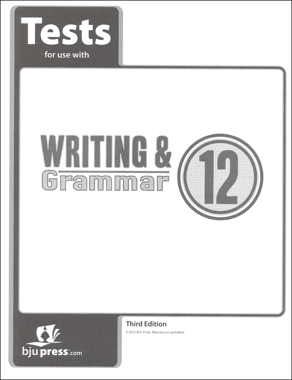 Writing/Grammar 12 Testpack 3rd Edition