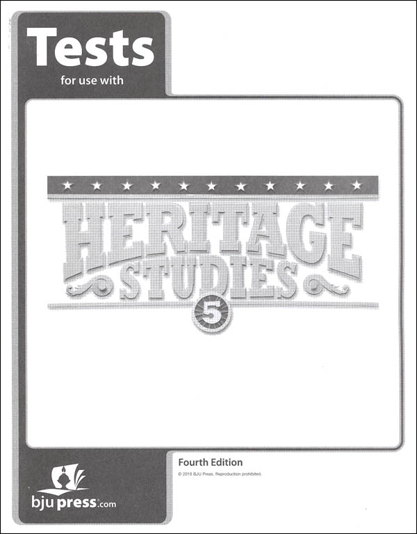 Heritage Studies 5 Tests 4th Edition