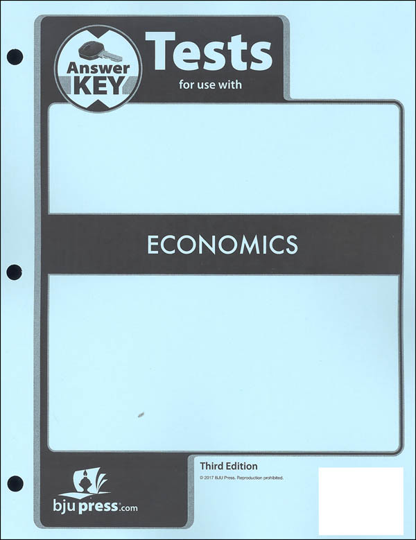 Economics Tests Answer Key 3rd Edition