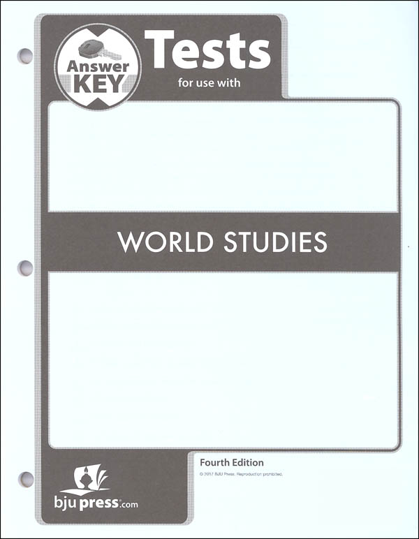 World Studies Testpack Answer Key 4th Edition