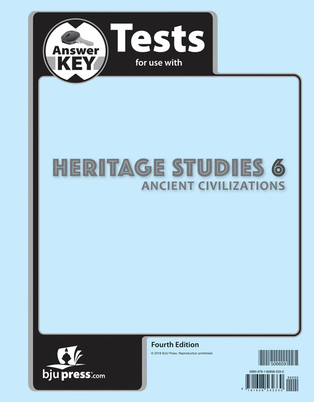 Heritage Studies 6 Tests Answer Key 4th Edition