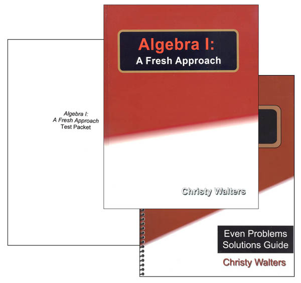 Algebra I: A Fresh Approach Set (2016 Edition)