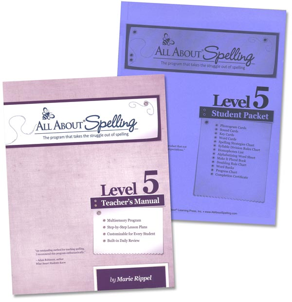 All About Spelling Level 5 Materials