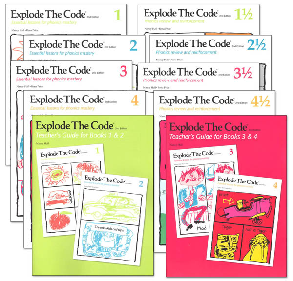 Explode the Code 1-4 (including 1/2s) with Teacher Guides (2nd Edition)