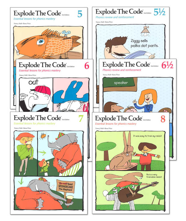 Explode the Code Books 5-8 (including 1/2s) (2nd Edition)