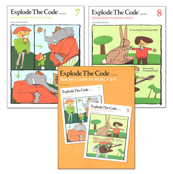 Explode the Code Books 7 & 8 with Teacher Guide (2nd Edition)