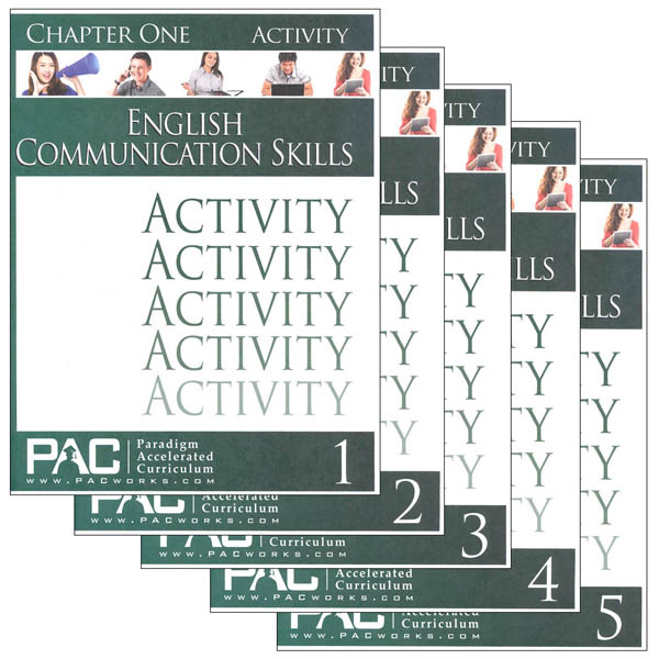 English Communication Skills Activities Package (Chapters 1-5)