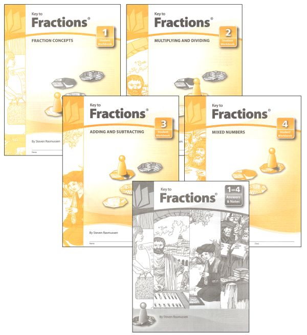 Key to Fractions Complete Set Workbooks + Keys