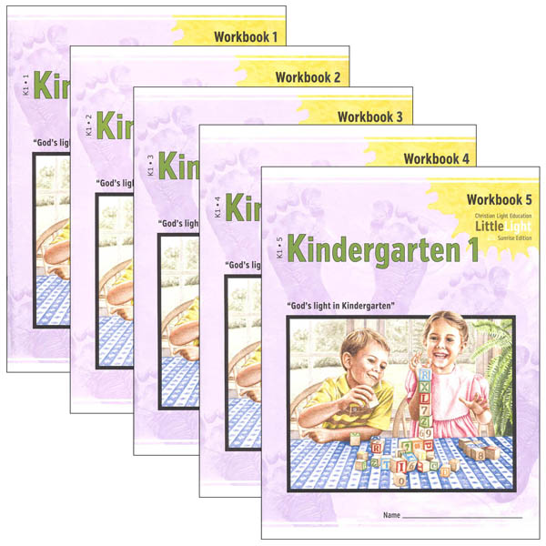 Kindergarten I LittleLight Workbook Set (1-5)
