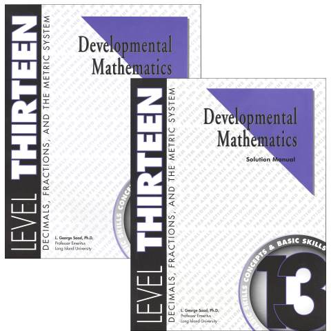 Developmental Math Level 13 Teacher & Student