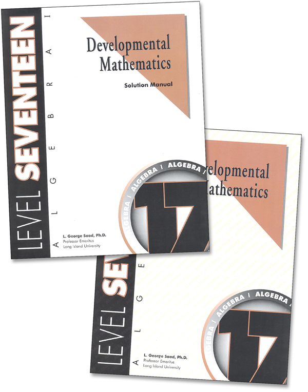 Developmental Math Level 17 Teacher & Student