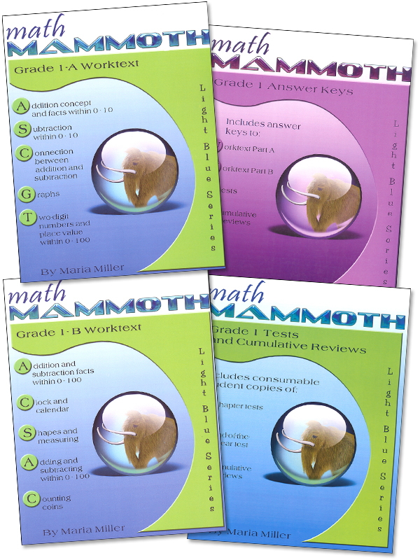 Math Mammoth Light Blue Series Grade 1 Set