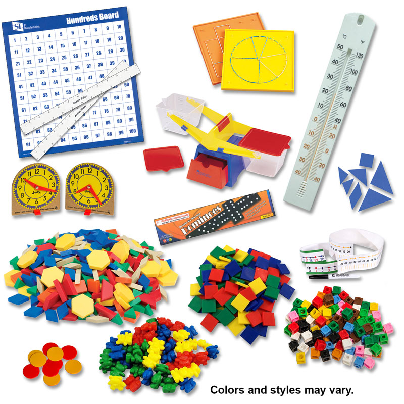 Manipulative Kit K-3 (Plastic Pattern Block Upgrade, NO Optional Items)