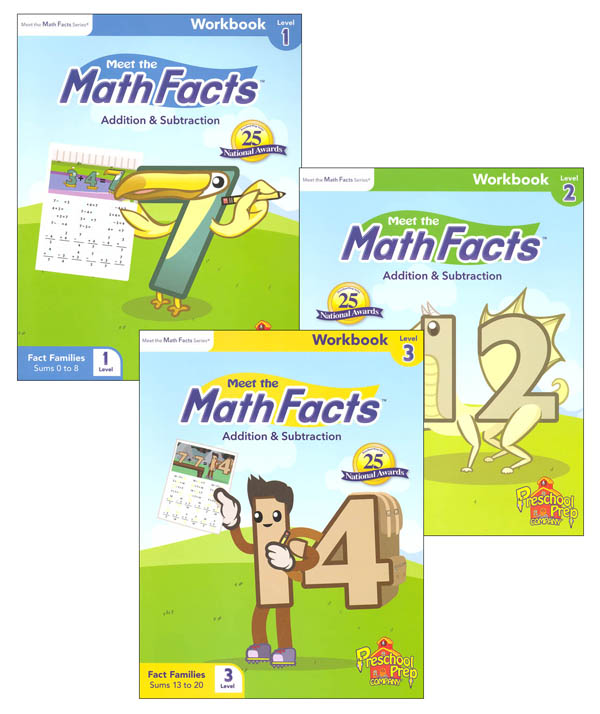 Meet the Math Facts +/- Workbook Package