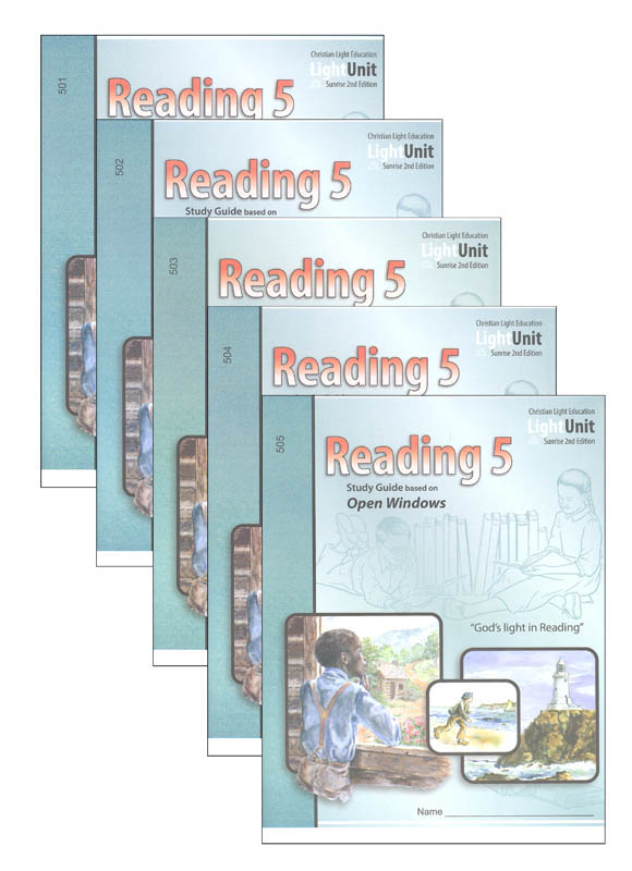 Open Windows Reading 5 LightUnits Only Set Sunrise 2nd Edition