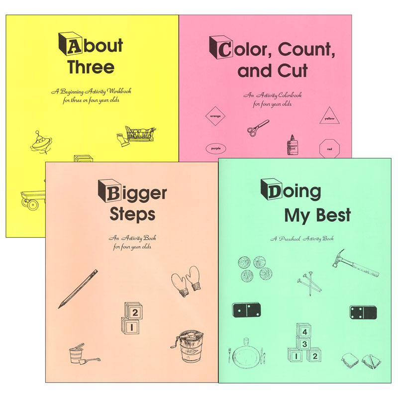 Study Time Preschool Workbook Set of 4