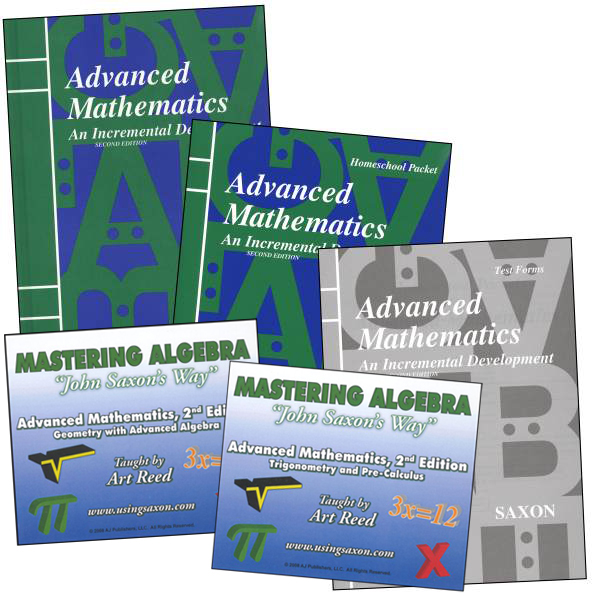 Saxon Advanced Math and Mastering Algebra DVD Package