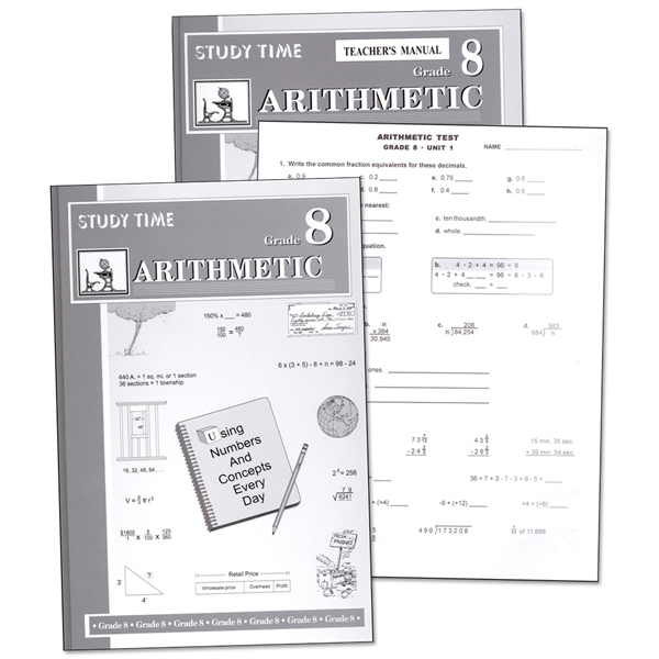 Study Time Arithmetic Set - Grade 8