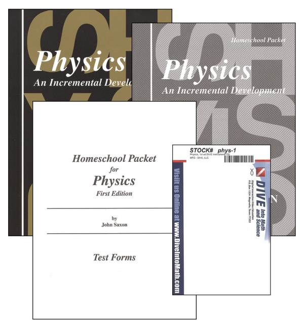 Physics 1st Edition Saxon Home Study Kit plus DIVE CD-ROM