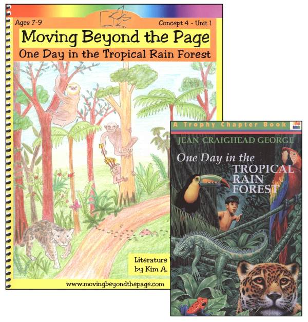 One Day in the Tropical Rain Forest Literature Unit Package
