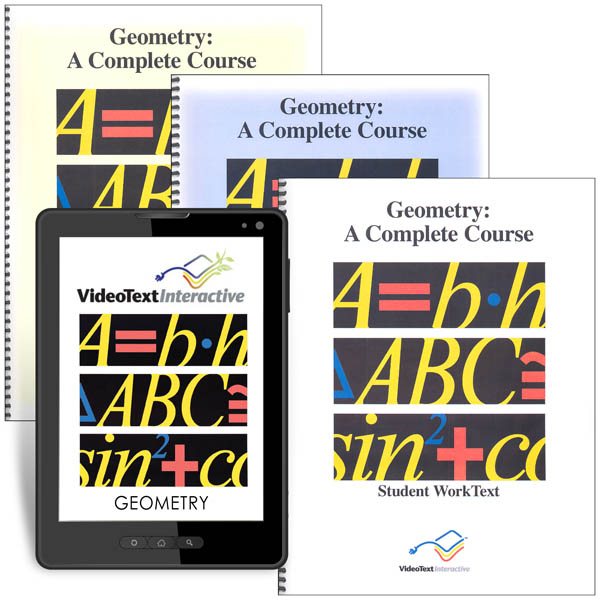 VideoText Geometry Complete Online Course + Desk Reference Bundle