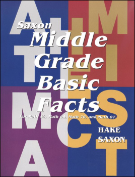 Saxon Middle Grade Basic Fact Cards