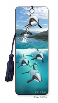 Hector's Dolphins 3D Bookmark