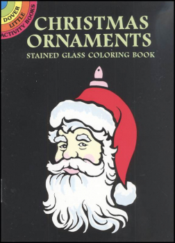 Christmas Ornaments Little Stained Glass Coloring Book