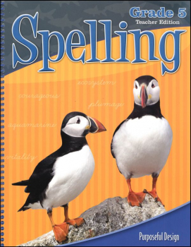 ACSI Spelling 5 Teacher Edition (revised edition)